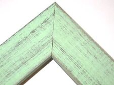 """1.5"""" Country Mint Julep Green Rustic Distress Weathered Picture Frame-Panoramic"""