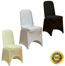 Spandex Lycra Chair Cover Avaiable in White, Black, Ivory, Brand New Sealed UK