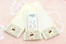 Cute TV Air-Condition Apricot Remote Control Holder Case Cover Protector