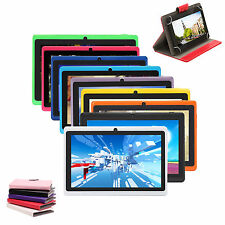 """iRulu 7"""" Android 4.4 Dual Core Cam A33 16GB 1.5GHz Multi-Color Tablet PC w/ Case"""