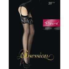 Fiore Obsession Epoca Sheer Garter Stockings  Nylons Hosiery FREE SHIPPING