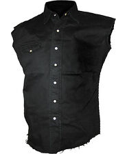 Spiral Direct Plain Sleeveless Work Shirt, Biker/Tattoo/Skull/Rock/M L XL XXL