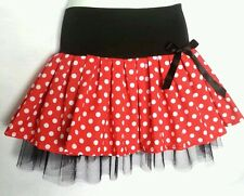 Minnie mouse Red & White mini polka spot tutu skirt. 50's. Dance. 8-10-12-14-16