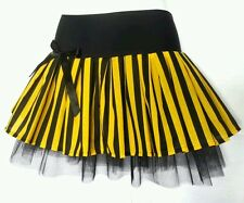 Black & Yellow Bumblebee tutu skirt. Fancy dress. Festival Dance. 8-10-12-14-16