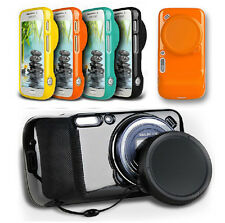Soft TPU Back Skin Case Shell + Lens Cap Cover for Samsung Galaxy S4 Zoom C101