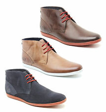 Base London BEACH Mens Soft Leather Suede Lace Up Casual Comfy Ankle Boots Boots