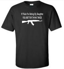 Rule For Dating My Daughter Big & And Tall T-Shirt Funny Humor AK47 Mens Tee