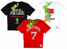 Boy's Official FIFA World Cup 2014 Portugal T-Shirt Top Black White Red 2-16 NEW