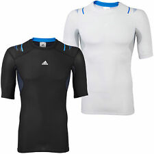 adidas Performance Mens Techfit Powerweb Compression Baselayer Top Tee