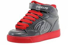 Heelys Boy's Fly High-Top Fashion Skate Sneakers Grey/Red Shoes