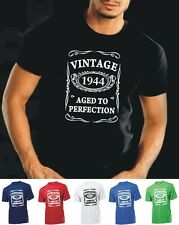 VINTAGE 1944 AGED TO PERFECTION T-shirt 70th BIRTHDAY Present Gift 70 years old