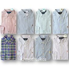 NWT POLO RALPH LAUREN MEN'S SOLID OXFORD BUTTONDOWN SHIRT, CUSTOM FIT