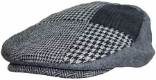 Mens Patchwork Flat Cap 3 Colours 3 Sizes