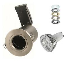 10 X 12 Watt Dimmable LED Fire Rated Downlights Spotlights 240V Fixed Die Cast