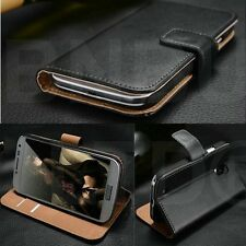 Luxury Genuine Real Leather Flip Case Wallet Cover For various mobile devices