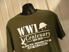 WORLD WAR ONE CENTENARY COMMEMORATIVE T SHIRT DONATIONS TO HELP FOR HEROES S-XL