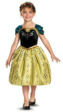 DISNEY Frozen Princess ANNA Classic CORONATION Dress Gown Costume Child Girls