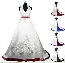 2014 New Stock Wedding Dress/ Bride Gown stock size 6-8-10-12-14-16-18