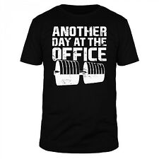 FABTEE Another Day At The Office Fitness Bodybuilding Sport Freak Workout Shirt