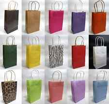 15 Colors- Kraft Shopping Gift Handle Wedding Party Paper Bag Bags