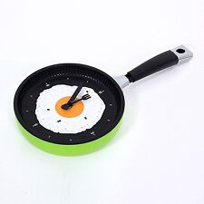 Creative Omelette Fry Pan Kitchen Fried Egg Design Wall Hanging Clock Decor new