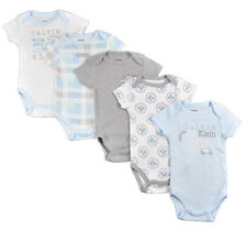 Calvin Klein Infant Boys Light Blue & Gray 5pc Bodysuit Set Size 0/3M 3/6M 6/9M
