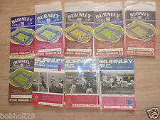 Burnley Home Programmes   1960's. (Updated) Select from list