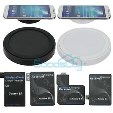 Qi Wireless Charger Charging Pad+Receiver for Samsung Galaxy S5 S4 S3 Note3