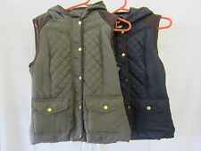 Ladies Brave Soul Zip Up Quilted Bodywarmer / Gilet with Hood Style LJK-ZUTTON