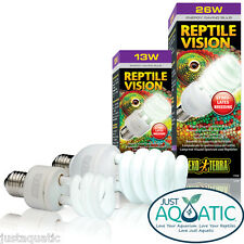 FREE SHIP EXO TERRA REPTILE VISION Compact Fluoro Bulb Visual Spectrum Bulb NEW