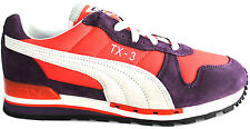 Puma TX-3 Trainers Mens Boy Casual Lace Up Suede Synthetic Purple 355608 01 -D91