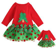 2014 New Baby Girl Christmas Sleeve Polka Dot One-piece Coat Shirt Dress Clothes
