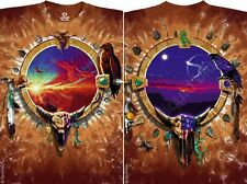 CANYON SUNSET-NATURE-SPIRIT-NATIVE AMERICAN-2 SIDED-T-SHIRT L-XL-XXL AWESOME