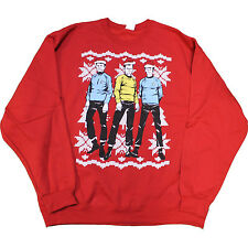 Star Trek Ugly Christmas Sweater Tacky Holiday Sweatshirt New