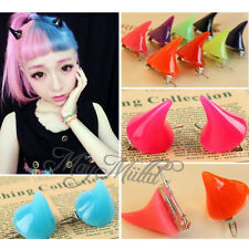 Lady Girl Cosplay Costume Little Devil Horns Candy Colored Hairpin Hair Clip W