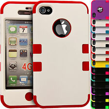 Shock Proof Hybrid Hard & Soft Builder Silicone Cover Case for Apple iPhone 5/5s