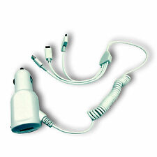 Caricabatterie Apple 30 Pin 3 In 1 Micro Usb Automobile Per Motorola Atrix Mb860