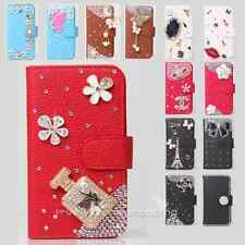 Color Bling Diamond Rose Wallet Leather Flip Case Cover for Nokia Cell phone