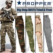 Propper Military BDU Pants Army Camo Tactical Combat Camouflage Fatigue Trousers