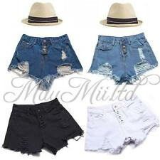 Hot Sales Fashion Womens Vintage Denim High Waist Jean Shorts Hot Pants W