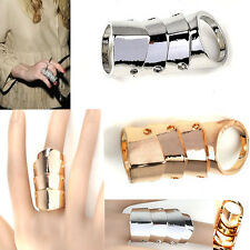 New Fashion Cool Punk Rock Gothic Scroll Armor Joint Knuckle Double Finger Ring
