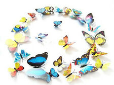HOT 3D Butterfly Sticker Art Design Decal Wall Home Decor Room Decorations 12pcs