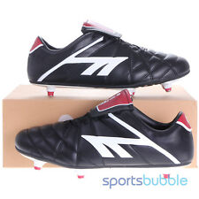 Hi-Tec League Pro SI Adult Football Boots Black/White/Red RRP £35 Sizes 7-12
