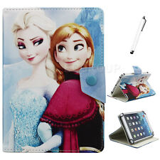 "Universal For 7"" 7.9"" tablet PC Disney Frozen PU Leather Flip Case Cover +Stylus"