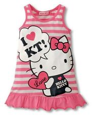 Girls Hello Kitty Pink Pajamas Dress Nightgown for Age 18M-5T (5 Sizes)
