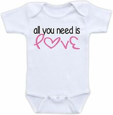 All You Need is Love Cute Baby Onesie Funny Onsie Clothing Unique Shower Gift