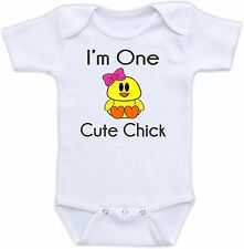 I'm One Cute Chick Cute Baby Onesie Funny Onsie Clothing Cool Shower Gift Unique