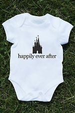Happily ever after Baby grow vest disney castle princess tumblr Z038