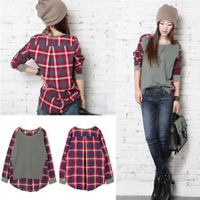 New Women Lady Fashion Casual Long Sleeve Crew Neck T-Shirt Tops Blouse Tee