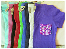 Monogrammed Deep V T Shirt with Laurel Burch, Brandon Mabley or Galaxy Pockets